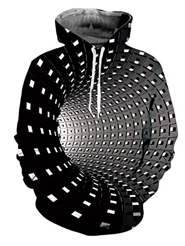 Fanient Unisex 3D Print Hoodies Swirl Graphic Pullover Hooded Sweatshirts for Men Women, Swirl Color, S-M