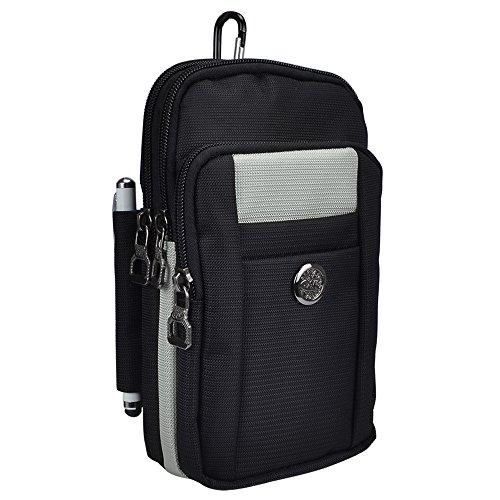 Jlyifan Nylon Reise Schultertasche Tasche Gürtel Clip case für iPhone 7Plus/Samsung Galaxy S8/S7Edge/A5J5/J3/LG K8/oukitel K6000Pro/Katze S60Thermo
