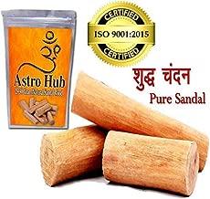 Astro Hub - Sandalwood Scented Processed Mysore Chandan Sticks, Chandan Wood/Sandal Wood Sandalwood/Sandal Wood for Pooja (25-30 Gram)
