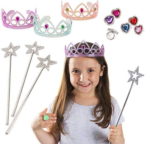 Tigerdoe Princess Accessories - 12 Pc Set - Princess Dress Up for Girls - Stocking Stuffers - Girls Tiara Set