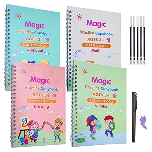 Magic Reusable Practice Copybook for Kids,Magic Reusable Practice Copybook,Practice Copyboo…