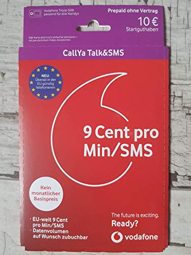 Vodafone Callya Sim Karte Vodafone inklusive 25 Euro Startguthaben