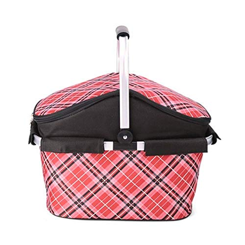 Best Review Of WSJTT Picnic Basket Insulated Picnic Basket - Strong Aluminum Frame - Waterproof Lini...