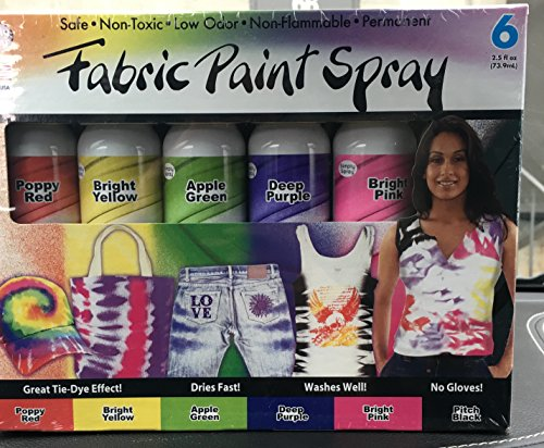 Simply Spray Fabric Spray Paint, 6-Pack
