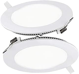 9W Luz de Techo Empotrada LED Redondo Panel de Luz Led Downlight Destacar Iluminaci/ón Cocina Ba/ño Corredor 3000K Warm White Tama/ño del Agujero 12.5CM