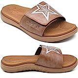 KUAILU Hombre Sandalias de Playa de Punta Descubierta Slide Deportivo Ajustable Zapatillas de Verano Ortopedicas Marrón talla 45