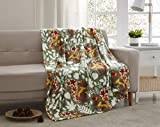 Morgan Home Fashions Velvet Plush Throw Blanket- Soft, Warm and Cozy, Lightweight for All Year Round Use 50 x 70 Inches Soft Velvet Plush in 5 Styles (Fall Squirrel)