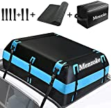 MENZOKE Rooftop Cargo Carrier,15 Cubic Feet Soft-Shell Waterproof Vehicle Cargo Carriers, Car Top Carrier Luggage Carrier with Storage Bag, Anti-Slip Mat for All Vehicle with/Without Rack