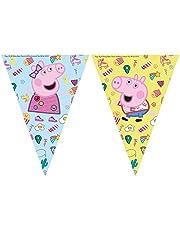 Procos 20024 Banderines de hilo Peppa Pig Desordenado Juego, multicolor, talla unica