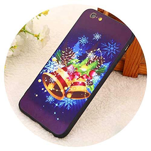 Fashion-Lover - Carcasa para iPhone XS X 8 7 6 6S Plus 5 5S SE TPU+PC Cartas teléfono contraportada Carcasas regalo para iPhone 5 5S SE