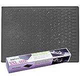 BasicForm Alfombrilla Escurreplatos Silicona para Encimera Cocina XXL 56.5x43.2x0.35cm (Negro)