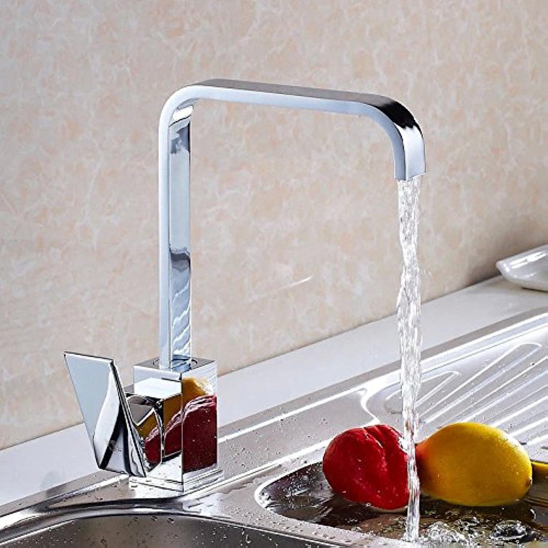 Wasserhahn küche mit herausziehbarer Dual-Spülbrause,Kaltes und Heies Wasser Vorhanden Messing verchromt Tous les robinets de cuisine en cuivre mélangés froids robinet de lavabo Caipen robinet