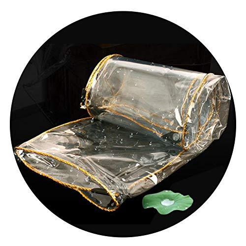 ALGFree Lona Impermeable Exterior, A Prueba de La Intemperie Suave El Plastico con Perforaciones, Fácil de Plegar Usado for Terraza, Cubierta de Gazebo, Cobertizo for Plantas