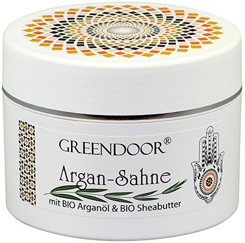 Körperbutter Greendoor Argan-Creme OHNE Glimmer Argan-Sahne aus BIO Arganöl und BIO Shea-Butter, vegane Luxus Body-Cream, natürliche Body-Butter 200ml, Pflege Naturkosmetik Geschenke Damen