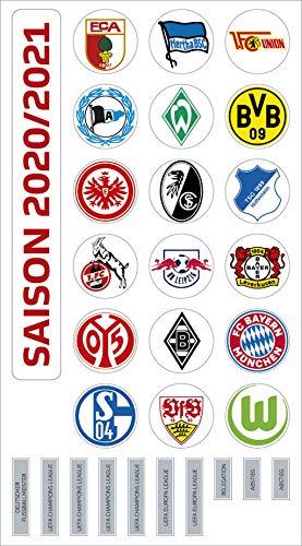 Am Ball Com 1. Bundesliga Magnettabelle - Vereinswappen (Saison 2020/21)