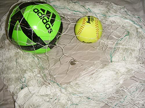 Sports Net 30 Ft x 25 Ft Sports Barrier & Containment Netting, Softball Net, Soccer Nets, Basketball Netting, Football, Volleyball Net, Fishing Net, Multipurpose Net