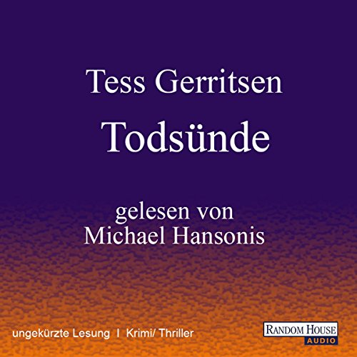 Todsünde (Maura Isles / Jane Rizzoli 3) audiobook cover art