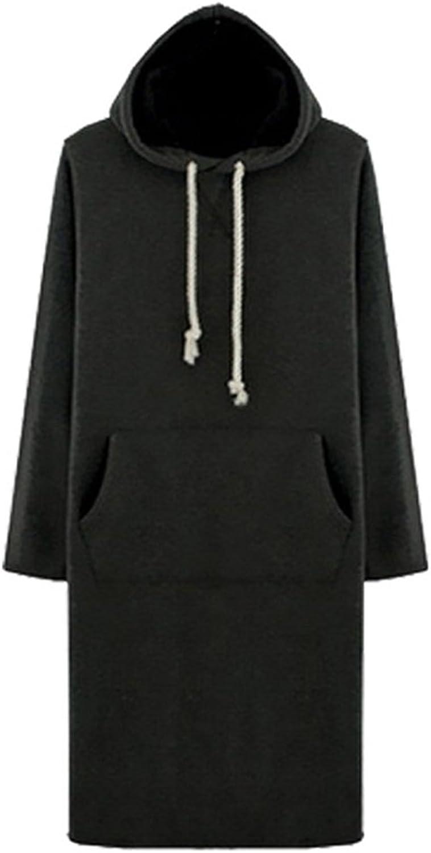 Casual Slim Drawstring Long Sleeve Solid Hood Sweatshirt