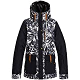Roxy Andie-Veste de Ski/Snowboard pour Femme, Oyster Gray Hawaiian Palm Leaf, FR (Taille Fabricant :...