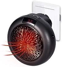 FWKTG Calefactor de Enchufe, Mini Calefactor Eléctrico, Calefactor Portátil Eléctrico 600W Protección Sobrecalentar, Temporizador, Ajuste Temperatura, 2 Modos Volumen Aire, Térmico Heater de Personal