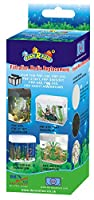 Sponge removes food residues and other organic substances Activated carbon adsorbs excess nitrogen, chlorides and removes odour Rinse with water from the aquarium and replace old cartridges Simple and easy to replace