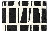 フィンレイソン(Ay) コロナマット ブラック 約45×70cm CORONNA玄関マット シック 丸洗いラグ 日本製 北欧調