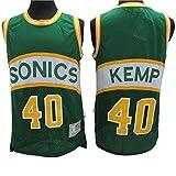 LSJ-ZZ Hombres NBA Jersey -Shawn Kemp # 40 Seattle Supersonics Baloncesto Camisa sin Mangas, clásico Retro Camiseta de la Tapa, de Malla Transpirable Sportwear,XL:185cm/85~95kg