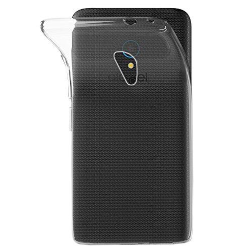ebestStar - kompatibel mit Alcatel U5 Hülle U5 Handyhülle [Ultra Dünn], Premium Durchsichtige Klar TPU Schutzhülle, Soft Flex Silikon, Transparent [Phone: 140.7 x 71.8 x 10mm, 5.0'']