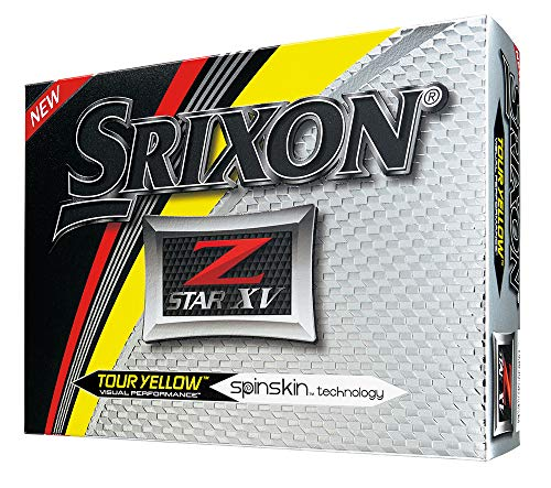 Srixon Z-Star XV 2017 Golf Balls, Yellow (One Dozen)
