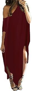 Kidsform Women Maxi Dress Striped Long Dresses Casual...