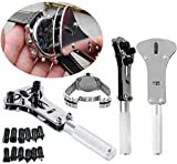 Watch Repair Tool Kit, Set of Back Opener Wrench and Watch Case Movement Holder for Waterproof Watch, Change Battery Yourself