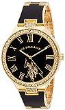 U.S. Polo Assn. Women's Analog-Quartz Watch with Alloy Strap, Gold, 14 (Model: USC40320)