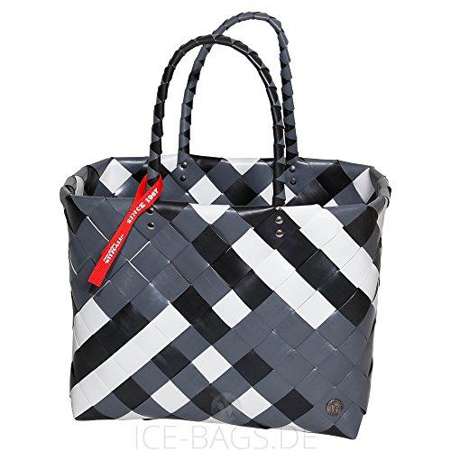 Witzgall Shopper Vintage Style 5017 04 NINA schwarz, 37cm x 24cm x 28cm, Einkaufstasche, Einkaufsshopper, Markttasche