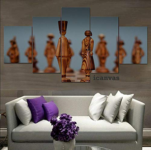 LIVELJ Puzzle Gift Juego de Mesa de Madera 5 Piezas Moderno HD Arte Pared decoración del hogar Lienzo Marco de impresión (20x100 cm)