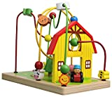 Lelin 0004495 Wooden Childrens Wire Farm Animals Bead Frame Roller Coaster Maze Toy