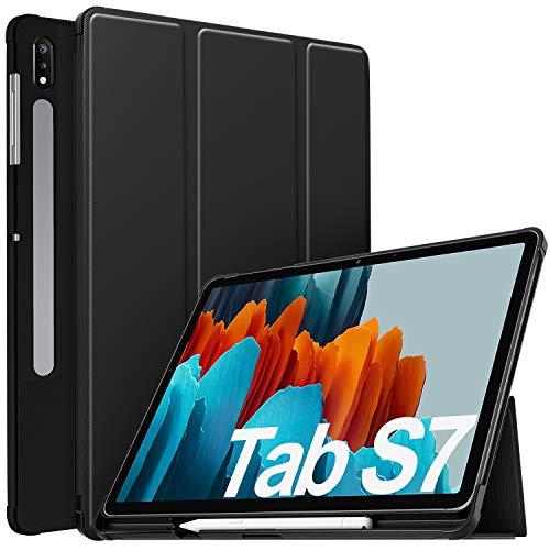 IVSO Funda para Samsung Galaxy Tab S7, para Samsung Galaxy Tab S7 11.0 Funda, Funda Case para Samsung Galaxy Tab S7 (SM-T870/875) 11 2020, Negro
