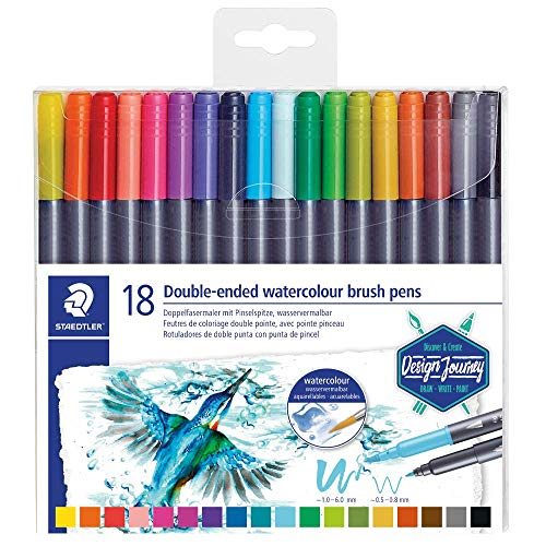 Staedtler Design Journey 3001 TB18. Rotuladores acuarelables