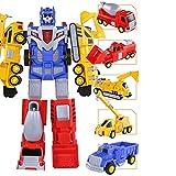LUSTAR Transformers 5 in 1 Set Juguete Robot, Creativo Manual Transform Guerrero Mech Deluxe Figura de acción Toys Niños Pequeños cumpleaños Regalo Edades de 3 y más