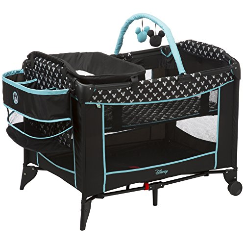 Disney Baby Sweet Wonder Play Yard with Built-in Changing Table, Mickey Shadow