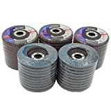 Premium Zirconia Flap Disc 4-1/2' X 7/8' 40 GRIT Pack of 50