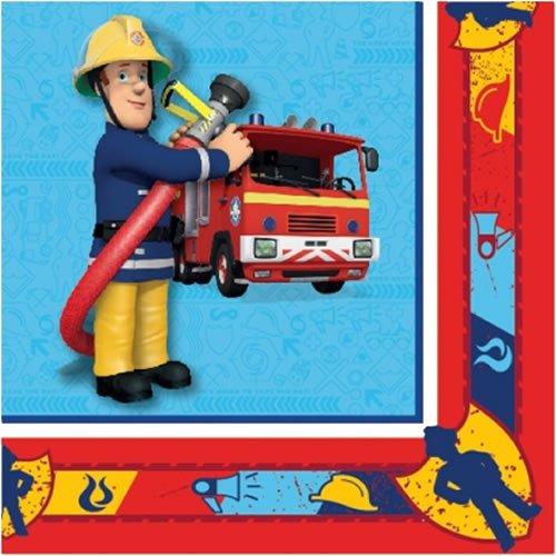 Generique - 20 Serviettes en Papier Sam Le Pompier 33 x 33 cm