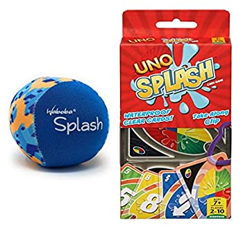 Magical Memories Collection UNO Splash Card Game and Waboba Splash Water Bouncing Ball- 2 Pool and Beach Toys!