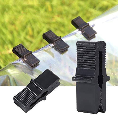 Atyhao Abrazadera de fijación de Clip de película de Invernadero de 200 Piezas Accesorios de Invernadero para Redes Accesorios de invernaderos de película de plástico