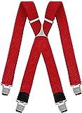 Decalen Bretelle Uomo Donna Unisex larghe 4 centimetri forma a X regolabile ed elastico pe...