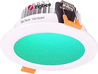 9W, 12W, 15W Smart ZigBee RGBW LED Downlight Kit Light Bulb Working with Echo Plus and Compatible ZigBee Bridge and Hub fo...