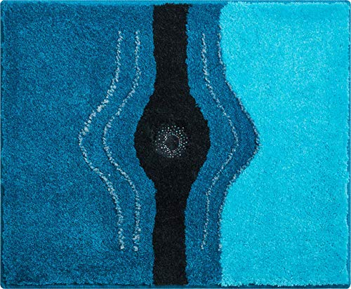 Grund Bath mat with Swarovski Crystals, Ultra Soft, Non-Slip, 5 Years Warranty, Washable Rug, 100% Polyacryl, ÖKO-TEX Certified, Crystal Light, Bath mat 50 x 60 cm, Turquoise