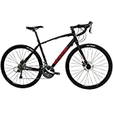 Tommaso Sentiero Shimano Claris Gravel Adventure Bike with Disc Brakes, Extra Wide Tires, Perfect for Road Or Dirt Trail Touring, Matte Black - Large