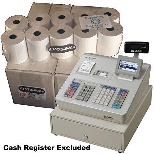 EPOSBITS® - Rollos para caja registradora Sharp XEA-307 XE-A307 XEA307-40 rollos