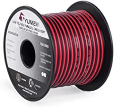 TYUMEN 100FT 18 AWG Gauge 2 Conductor Stranded Red Black Car Home Stereo Speaker Audio Cable Electrical Hookup Wire - 99.9...