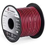 TYUMEN 100FT 18 AWG Gauge 2 Conductor Stranded Red Black Car Home Stereo Speaker Audio Cable Electrical Hookup Wire - 99.95% Oxygen Free Copper Wires